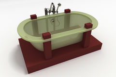Modern Bathtub Royalty Free Stock Photos