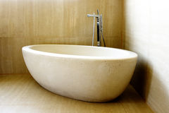 Modern Bathtub and Tap Royalty Free Stock Images