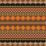 Modern batikmotivgarnering Arkivfoto