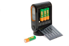 Modern battery power charger. Isolated Royalty Free Stock Images