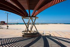 Modern beach pergola gazebo pavilion Royalty Free Stock Images
