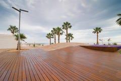 Modern beach promenade Royalty Free Stock Image