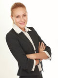 Modern beautiful business woman in the office Royalty Free Stock Image