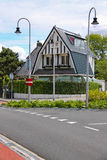 Modern beautiful house on Haarlemmerstraat street  in Zandvoort Stock Image