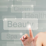 Modern Beauty and Internet Surfing Stock Photo