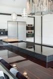 Modern beauty kitchen interior Royalty Free Stock Photos