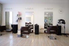 Modern beauty salon. Interior of a modern beauty salon stock photos