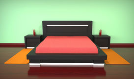 Modern bed Royalty Free Stock Photo