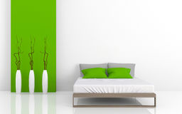 Modern bed 3D Stock Images