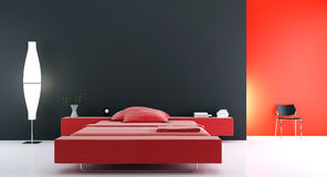 Modern bed room Stock Photo