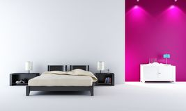 Modern bed room Royalty Free Stock Photography
