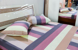 Modern bed room. Beautiful modern bed room close up Royalty Free Stock Photography