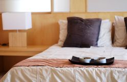 Modern bed room interior Royalty Free Stock Photography