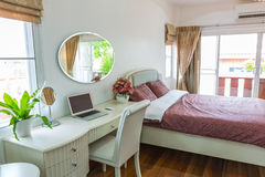 Modern bed room interior Royalty Free Stock Image