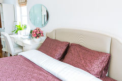 Modern bed room interior Stock Images