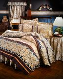 Modern Bed room set with bedding Royalty Free Stock Photography