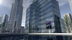 Modern bedrijfdistrict Royalty-vrije Stock Afbeelding