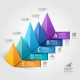 Modern bedrijfs 3d driehoeksdiagram. Stock Afbeelding