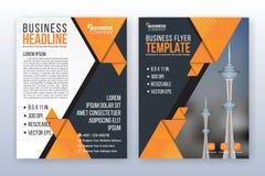 Modern bedrijfs jaarverslagmalplaatje Multifunctionele flyterrug Stock Foto's