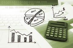 Modern bedrijfsbureau met informatietechnologie royalty-vrije stock foto