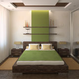 Modern bedroom. royalty free illustration