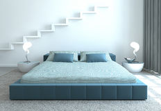 Modern bedroom. Royalty Free Stock Photo