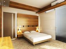 Modern bedroom. In minimalist style Royalty Free Stock Photos