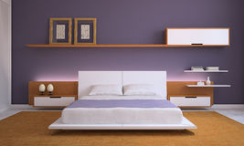 Modern bedroom. Royalty Free Stock Photos