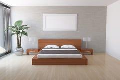 Modern bedroom. Interior of modern bedroom with frame