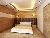 Modern bedroom. In minimalist style royalty free illustration