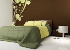 Modern bedroom. Rendering of a modern bedroom Stock Photography