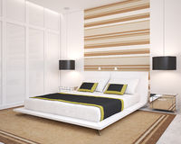 Modern bedroom. Stock Images