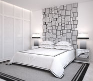 Modern bedroom. Stock Image