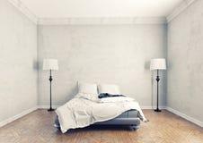 Modern bedroom. Modern style bedroom interior (3D rendering vector illustration
