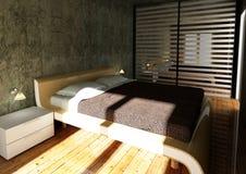 Modern bedroom 3d Stock Images