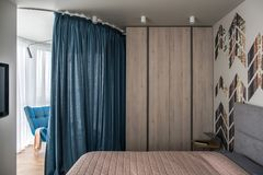 Bedroom in modern style Royalty Free Stock Photography