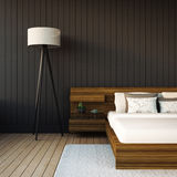 The modern bedroom royalty free stock image