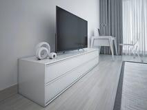 Modern bedroom design Stock Photos