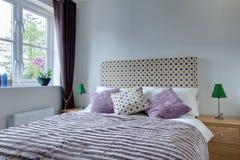 Modern bedroom detail stock images