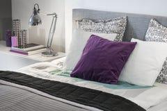 Modern bedroom detail interior design Stock Photo
