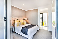 Modern bedroom entrance and exit for an outsider Royalty Free Stock Image