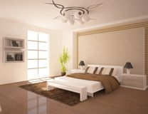 Modern bedroom furniture Stock Images