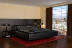 Modern Bedroom - Hotel Room - Shot 1 Royalty Free Stock Images