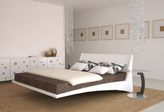 Modern bedroom interior. Stock Photos