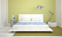 Modern bedroom interior. Royalty Free Stock Photos