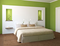 Modern bedroom interior. Royalty Free Stock Image