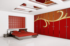Modern bedroom interior 3d render Royalty Free Stock Photos