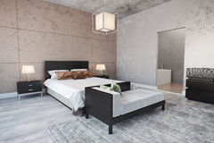 Modern bedroom interior Royalty Free Stock Photography