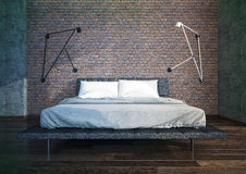 Modern bedroom interior Stock Image