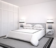 Modern bedroom. Royalty Free Stock Image